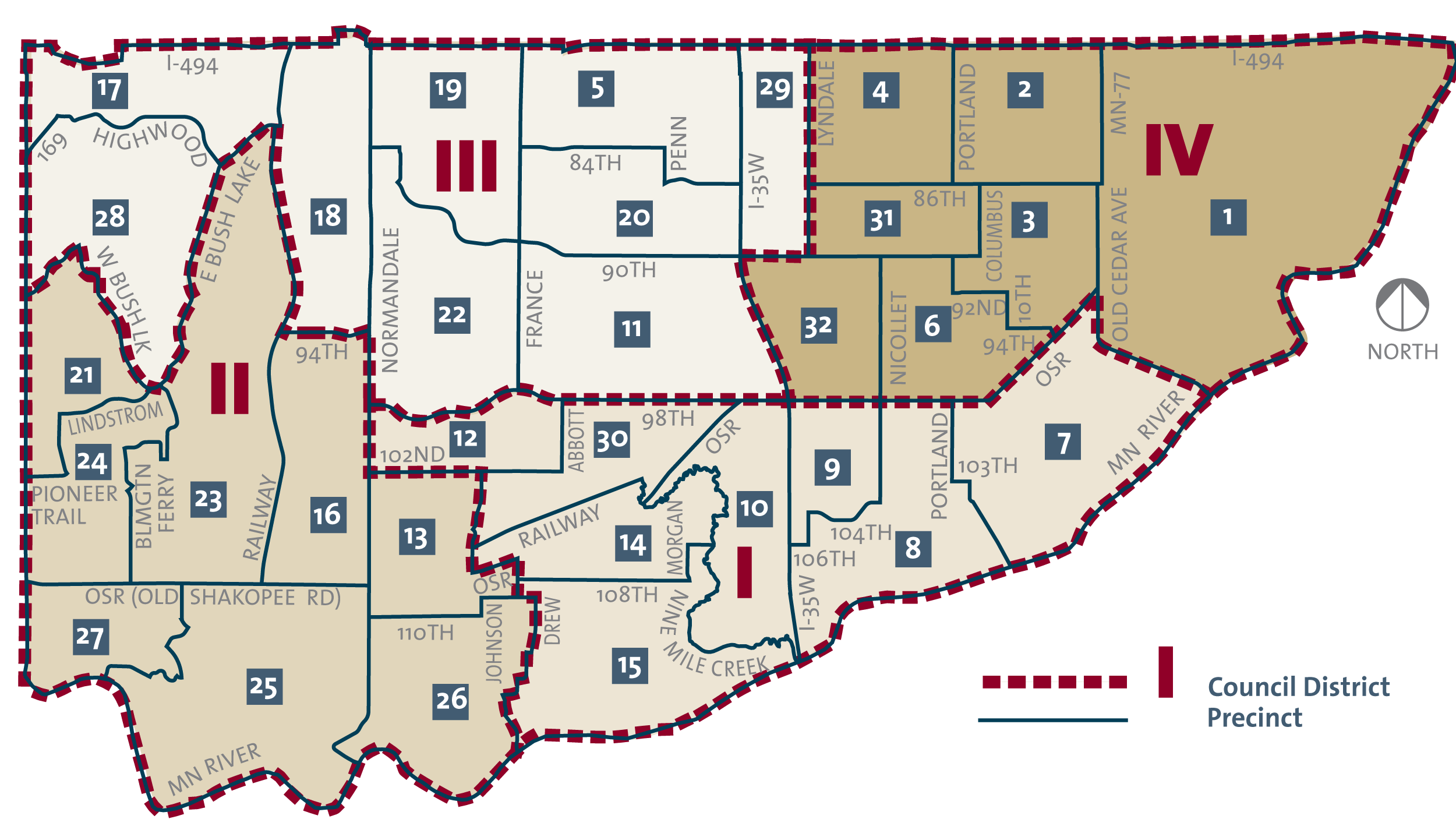 Council precincts map
