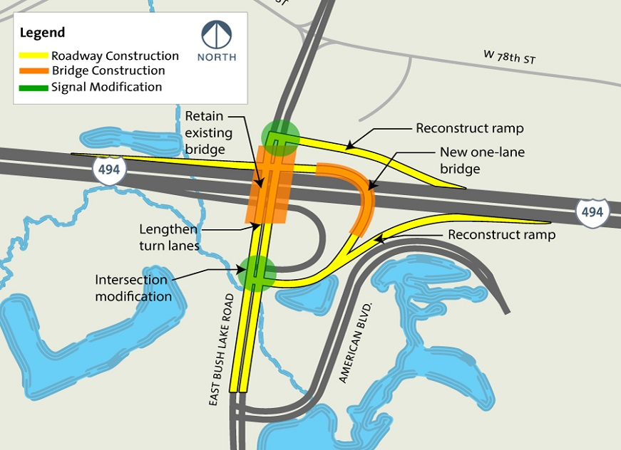 East Bush Lake Road project map