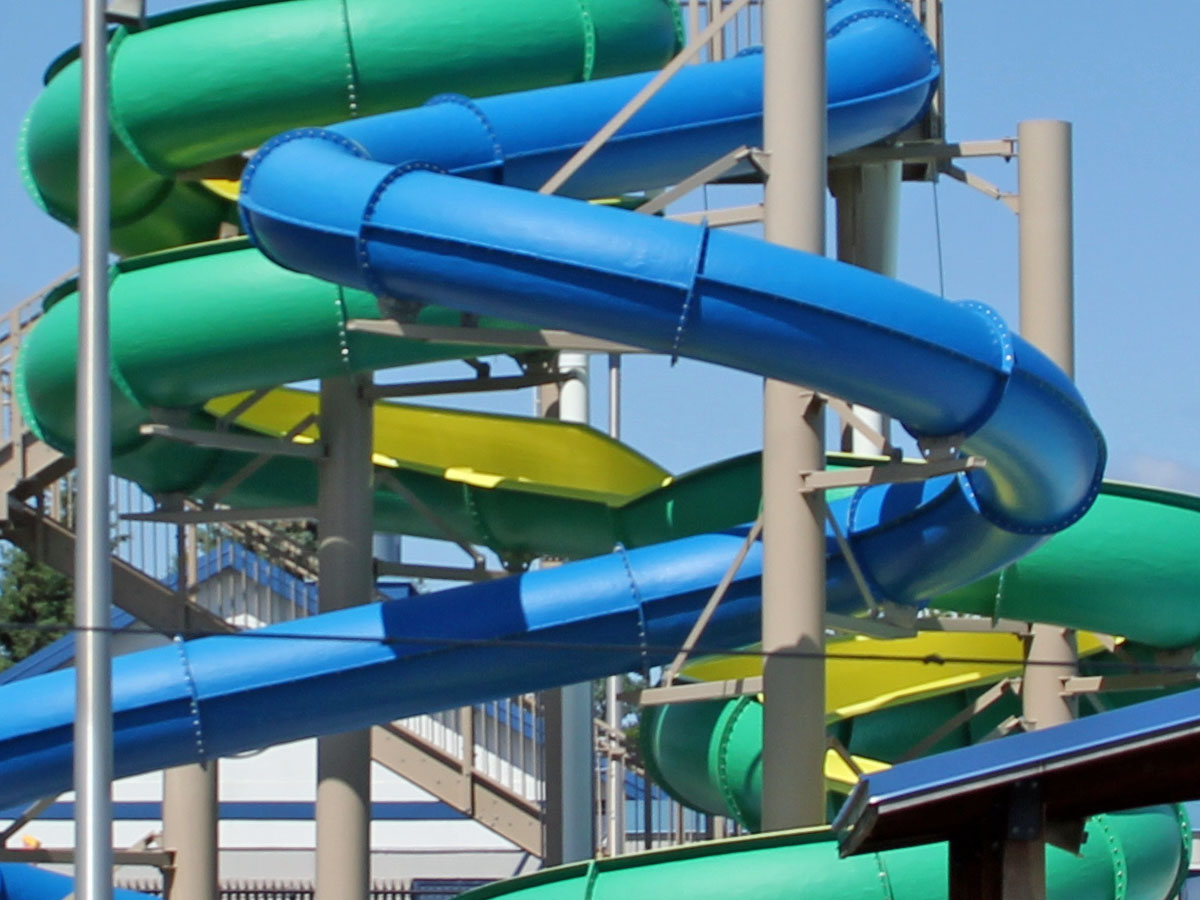 Aquatic Center—Water slide detail.